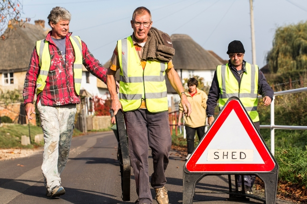 Shedders finish for the day