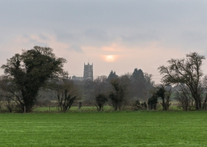 Views over to Steeple Ashton church from the Mid Wilts Way heading towards Keevil