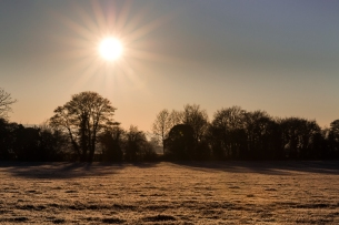 Frosty morning in the fields of Keevil