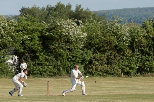 Keevil Cricket in action at the Manor ground