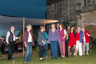 Keevil Choir members in an impromptu performance at Music at the Manor 2016