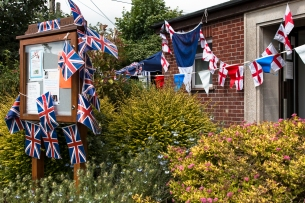 Queen's 90th Birthday: Keevil Street Party at the village hall J