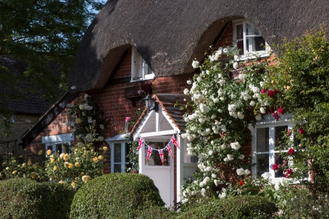 Gingells Cottage got a little bunting in honour of the Queen's b