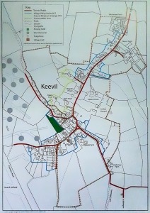 Keevil Village Design Statement Map