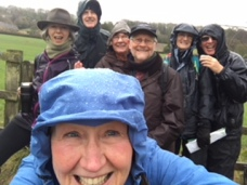 A very wet and blustery walk around Box, March 2018