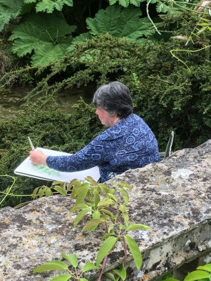Art Group at Heale Gardens-0507