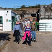 Walkers cut through Hardington Farm (with their kind permission), September 2018