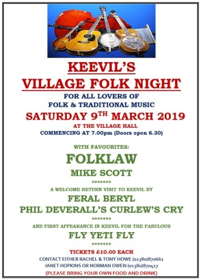 folk night poster 2019
