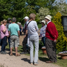 Bimblers pause in the BRAG garden near the canal at Bowerhill, May 2019