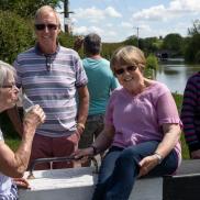 Bimblers beside the Kennet & Avon Canal near Seend Cleeve, May 2019