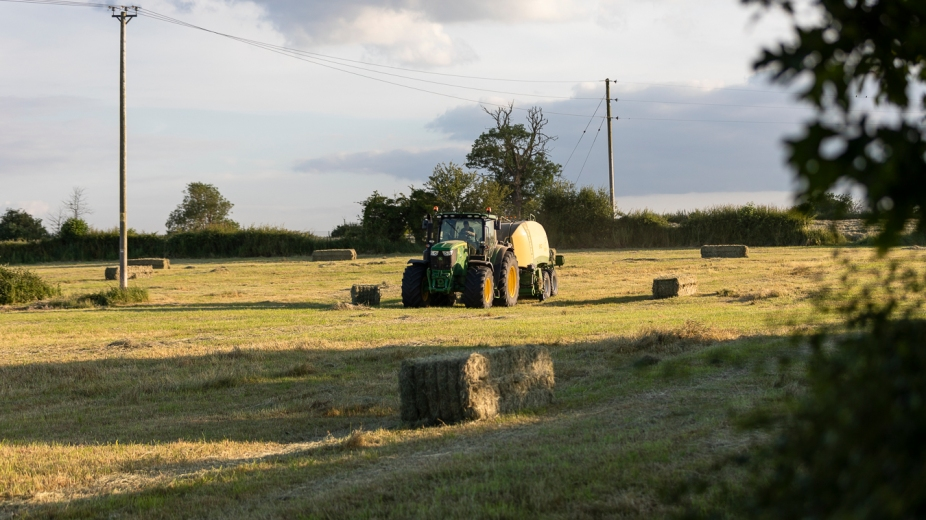Haybaling in the fields between Butts Lane and Martins Road, July 2019