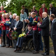 Sappers, Double Hills' Peter Yeates, John Bosely, and David Bodman, at RAF Keevil Remembrance 2019