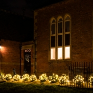Lights outside Chapel House