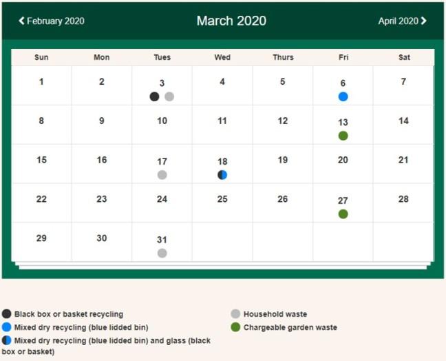 Bins March 2020 Main St