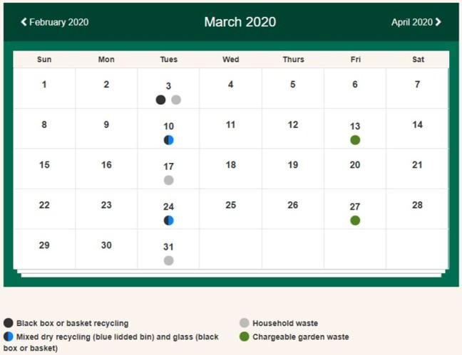 Bins Martins Rd March 2020