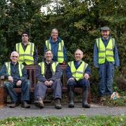 The restoration crew plus support