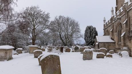 St Leonard's church and churchyard