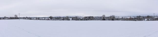 Panorama looking towards Butts Lane and beyond to Salisbury Plain